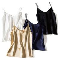 100% Natural Silk Women's Spaghetti Straps Fashion Camisole Sexy Tank Vest Under Shirt Sleepwear