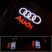 auto-ghost lichter großhandel-2 Teile / los Auto Willkommen Licht Für AUDI Autotür LED CIRCLE Ghost Shadow Licht Audi Logo Projektor Courtesy Lights Auto Hintergrundbeleuchtung