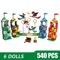 Wholesale small toy blocks resale online - 540PCS Small Building Blocks Toys Compatible with Legoe Quidditch Match Gift for girls boys children DIY