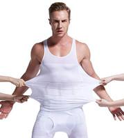 bauchgürtel männer großhandel-Männer verlieren Gewicht, das Westenoberseiten-Taillengurt abnimmt, verringern Bauchmagen shapewear Lagekorrekturt-shirt festen Kastenformer 2019