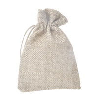 Wholesale small jute drawstring bags for sale - Group buy 12pcs Small Linen Pouch Burlap Jute Sack Drawstring Gift Bags Jewelry Pouch Natural Linen Birthday Party Candy Packaging Bag
