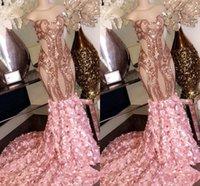 trompeta sin tirantes de fiesta al por mayor-2020 barato atractivo color de rosa sin tirantes de la sirena vestidos de noche sin mangas con lentejuelas de tren de barrido completo de la trompeta Vestidos de baile del traje de soirée