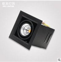 Wholesale switch stores for sale - Group buy Led embedded spotlights square downlight living room aisle downlight clothing store cob