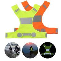 koşu bandı toptan satış-Görünürlük Yansıtıcı Yelek Açık Güvenlik Yelek Bisiklet Yelek Çalışma Gece Koşu Spor Açık Giyim Ev Giyim DHL