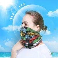 moda açık hava sihirli fular toptan satış-Unisex Sihirli Kafa Boyun Bandana Güneş Kremi Yürüyüş Yüz Maskesi Sürme Eşarp Moda Serin İşlevli Açık Bisiklet Buz Ipek