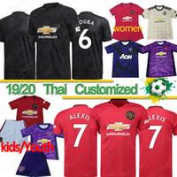 Wholesale thai kits resale online - Thai FC manchester POGBA soccer jersey LINGARD RASHFORD football shirt united UtD uniforms man kids kit jerseys