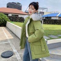 nuevas fotos de chicas coreanas al por mayor-Photo Shoot 2019 nuevo estilo Mori joven de línea Columna abajo de Corea del estilo de la chaqueta de las mujeres de la correa sofisticado estilo de mitad de la longitud de la red Ka