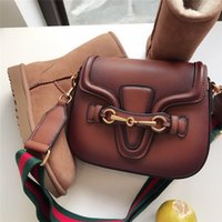 Wholesale messenger bag two straps resale online - Fashion designer handbags luxury handbags high quality shoulder strap ladies shoulder bags retro Messenger bags