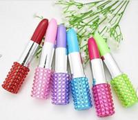 Wholesale kids korean pens for sale - Group buy Student Cute Creative Lipstick Plastic Novelty Ballpoint Pen Kawaii Roller Ball Pens For Kids Writing Gift Korean Stationery GA321