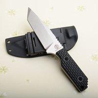 tang klinge großhandel-Drop shipping Überleben gerade Messer D2 Satin Tanto Klinge Full Tang Schwarz G10 Griff Outdoor Jagd Rettungsmesser Mit Kydex