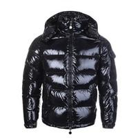 зимние куртки мужчины оптовых-Роскошные Куртки Куртка Мужчины Женщины Классический Повседневная Пуховик Пальто Мужские Открытый Теплый Перо Зимняя Куртка Doudoune Homme Унисекс Пальто И Пиджаки