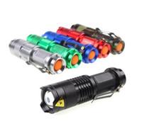linterna mini led foco zoom al por mayor-12W Mini Ultrafire 1600 lúmenes CREE XM-L T6 LED Focus antorcha linterna con zoom Lámpara de aleación de aluminio linternas 18650 batería SK68