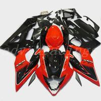 обтекатели пресс-форм оптовых-3Gifts Новый комплект обтекателей для мотоцикла ABS Injection Mold Fit для Suzuki GSXR1000 K5 2005 2006 05 06 GSX-R1000 набор обтекателей nice red black
