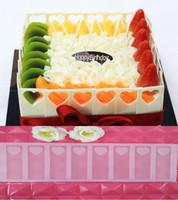 doğum günü pastası dekorasyon araçları toptan satış-İçi boş kalp DIY Silikon Çikolata Kalıp Bakeware Birthday Cake Kurabiye Süsleme Araçları Çikolata Kalıp Elek Muffin