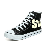 The Sword Art Online Shoes Popular Luminous Canvas Shoes SAO Hand Painted  Cosplay Anime Graffiti High Top Sneakers for Men  194918 62e25e0f0