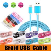 Wholesale usb cable for tablet pc for sale – best 1 M Type C Long Strong Braided USB Charger Cable Micro V8 mm Cables Data Line Metal Plug Adapter For Samsung Note For Tablet PC