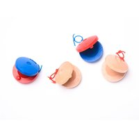 Wholesale castanets toys for sale - Group buy Carl Orff Percussion Instruments Wooden Toys Kindergarten Castanet Round Dancing Castanets Early Educational Instrument True Colors bw O1