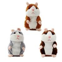 ingrosso bambole di bambole a parlare-Talking Sounding Recording Peluche Hamster Toy ripete quello che dici roba peluche criceto bambola animale giocattoli per il regalo del bambino
