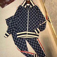 Wholesale 2018Fashion designer men s sportswear suit letter printing men s suit sportswear sportswear suit men s jacket jacket casual sweatshirt