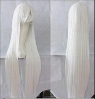 Wholesale wig anime men for sale - WIG Anime Wig Cosplay Women Men Full Long Straight Synthetic Hair White Wigs Costume Party Peruca Peruke