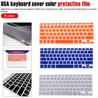 teclado macbook a1278 venda por atacado-Película protetora tampa do teclado de Laptop para macbook pro 15 polegada A1466 A1502 A1278 A1398 EUA Silicon Keyboard Cover