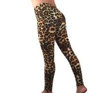 Womens Leopard Legging Pants Hot Style Skinny Print Slim Body High Waist Sexy Elastic Tight Pants