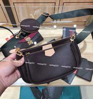 omuz çantası çanta askısı toptan satış-Kadınlar favori mini poşet torba 3 adet aksesuar çanta vintag omuz çantaları deri cüzdanlar çok renkli askıları oksitleyici m44823 crossbody