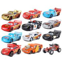 ingrosso modello di automobile di metallo della lega-Car McQueen Car Toy 1:55 Die Cast metallo lega Model Toy Car 3 Giocattoli per bambini Regalo di Natale di compleanno