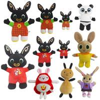 pamuklu oyuncaklar toptan satış-25cm sevimli 6 stilleri tavşan bebek asker pp pamuk doldurulmuş hayvanlar peluş oyuncaklar karikatür bebek Noel hediyesi toptan Tavşan peluş oyuncaklar bing