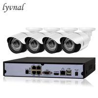 Wholesale poe cctv kit for sale - Group buy LYVNAL CH POE NVR kit V CCTV system mp P indoor outdoor ip camera waterproof MP security video surveillance set