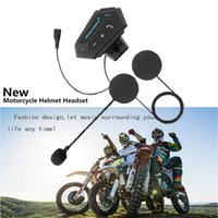 Wholesale mp3 player for motorcycles for sale - Group buy Handsfree Moto Helmet Headset Bluetooth V4 Stereo Wireless MP3 Music Player with Microphone for Motorcycle Race Riding