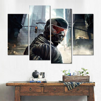 Wholesale amazing modern paintings for sale - Group buy Modular canvas print painting amazing crysis modern home decor
