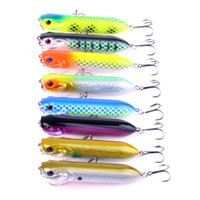 leurres d'eau achat en gros de-40pcs Big Popper Pêche Leurres 95mm 17g Top Eau Dur Appâts De Pêche Attirons