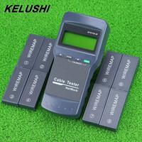 conector de prueba al por mayor-Envío gratuito multifunción red LAN Phone Cable Tester Meter Cat5 RJ45 Mapper 8 pc Far Test Jack Inglés operación envío rápido