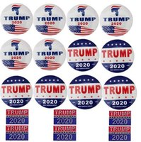 Wholesale red gemstone buttons for sale - Group buy Donald Trump Buttons Pins Keep America Great Brooch Pins Badge for Clothing Jeans Scarf Hat Bag Ornaments Presidential Election Campaig
