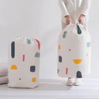 складное одеяло оптовых-Складные Одежда Одеяло Одеяло сумка для хранения геометрии цветка печати свитер Органайзер большой емкости Bundle Карманные сумки ZZA1199