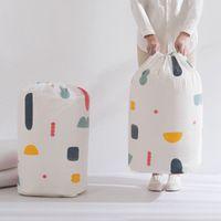 sacolas de camisola venda por atacado-Roupa dobráveis Blanket Quilt Storage Bag Geometry Impressão Flor camisola Organizador grande capacidade Bundle bolso Bolsas ZZA1199