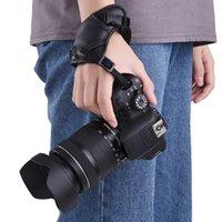 deri dslr fotoğraf makinesi kayışı toptan satış-Canon / Nikon / Sony / Olympus Pentax / Fujifilm / DSLR için Kayış Deri Kamera Yastıklı Bilek Tutma Kayışı Kamera Aksesuar