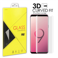 Wholesale 3D Full Cover Screen Protector For Samsung Galaxy S10 S9 S8 plus Note Note S7 S6 Edge Tempered Glass