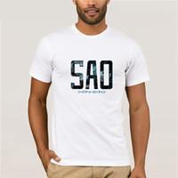 impresión personalizada en línea al por mayor-Sword Art Online Kirito T-Shirt Camisetas impresas personalizadas La camiseta más nueva de la moda 2019 Camiseta con estampado creativo de la moda