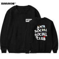 mann frau kleidung cartoon großhandel-XUNASHOW 2019 Neue BT21 Sweatshirt für Männer Frauen Korean Langarm BTS Kpop Album Kleidung Cartoon Letters Print Tops S-5XL