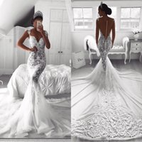 Wholesale crystal unique wedding dress for sale - Group buy 2019 Sweetheart Neck Mermaid Wedding Dresses White O neck Satin Mermaid Bridal Gowns Unique Robe De Mariage BA9614