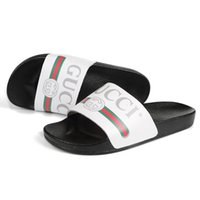 Wholesale mens moccasin loafers for sale - Group buy Top Quality Genuine Leather Slides G Men Slippers Ladies Flip Flops Sandals Loafers Slide Mens Slipper SLC05