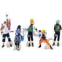 naruto uzumaki figür toptan satış-Yeni Gelmesi 5 Adet / takım Naruto Action Figure Klasik Oyuncaklar Serin Naruto Kakashi Sasuke Uzumaki Şekil Anime Modeli Bebek Çocuklar Için Wj434