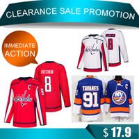 590cbdd9863 Clearance Washington Capitals 8 Alex Ovechkin 91 Tavares jerseys New York  Islanders Hockey Jersey TOP quality men