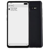 """qhd écran smartphone achat en gros de-4G LTE Goophone S10 + V5 Clone Face ID d'empreintes digitales Android 9.0 6,4 """"Punch-hole Tout Écran Octa Core 16MP Caméra Double Nano Carte Sim Smartphone"""