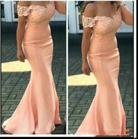 Wholesale formal dresses for weddings guests for sale - Group buy New Cheap Off the Should Bridesmaid Dresses For Wedding Lace Appliques Mermaid Plus Size Formal Maid of Honor Gowns Wedding Guest Dress