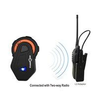 Wholesale portable radio bluetooth headset resale online - Portable Motorcycle Helmet Intercom Bluetooth Headset Fm Radio Bluetooth Earphone