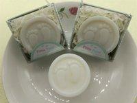ingrosso regalo mini pianta-Baby Shower Wc Sapone Bomboniere Mini Feet Saponi Attività Piccolo regalo Romantico Rose Plant Fragrance Bath Portable Multi Foam Vendita calda 1 2sqE1