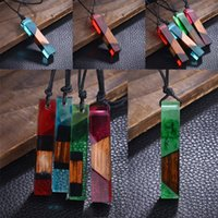 Wholesale diy resin chain for sale - Group buy 3 Styles DIY Liquid Resin Jewelry Necklace Pendant Women Ladies Fashion Solid Wood Necklaces Charm Jewelry Long Sweater Chain M435Y